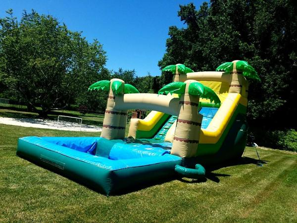 Large Tropical Water Slide