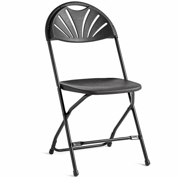 Tuxedo Black Fan Chair